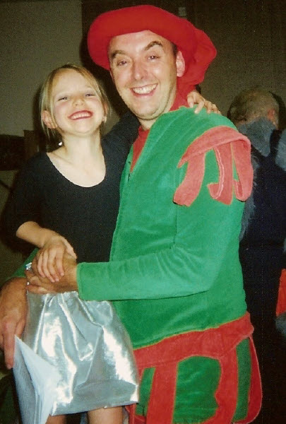 2000 Babes in the Wood: David Parker as Barnaby with daughter Ellie (chorus)